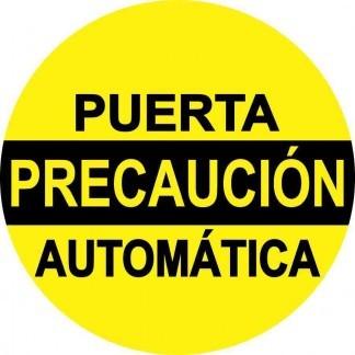 Precaución Puerta Automática Sticker