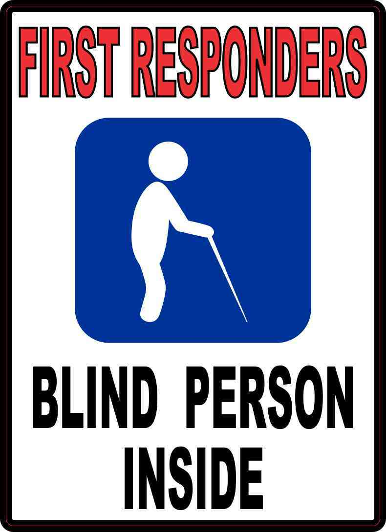 Blind Person Inside Sticker