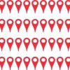 Red Map Pointer Stickers
