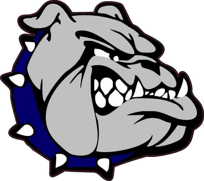 Blue Collared Bulldog Sticker