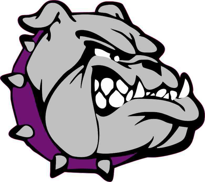 Purple Collared Bulldog Sticker