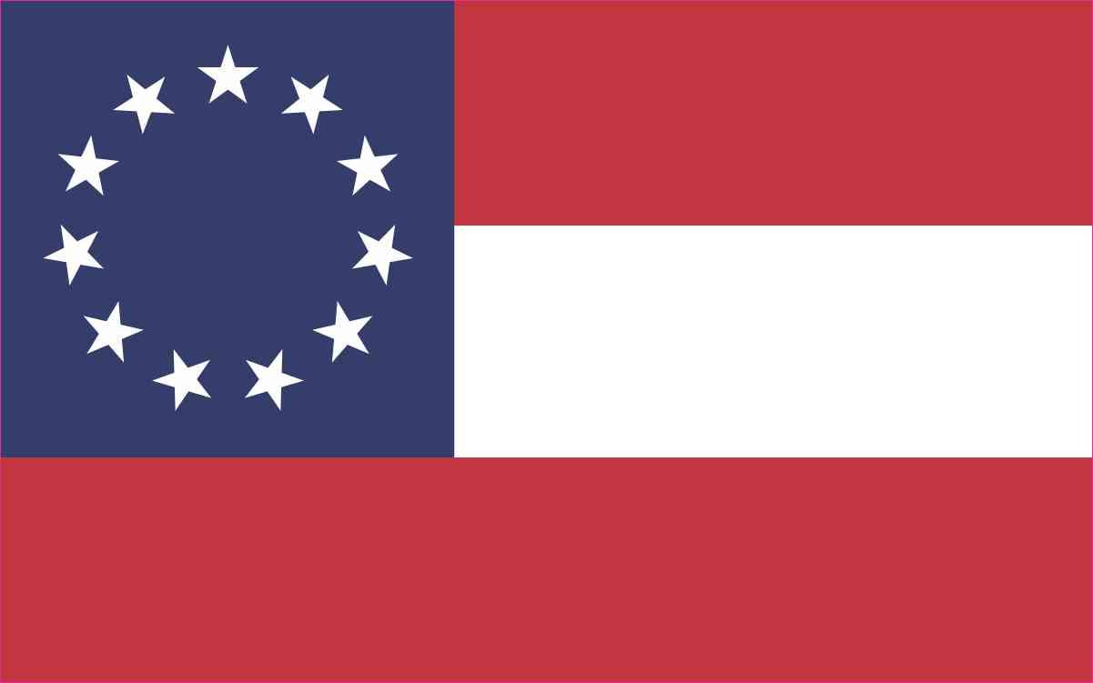 First National Flag Sticker