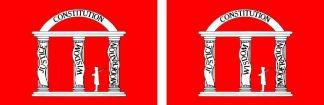 1861 Georgia State Flag Stickers