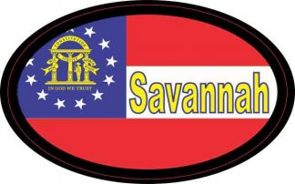 Oval Georgia Flag Savannah Sticker