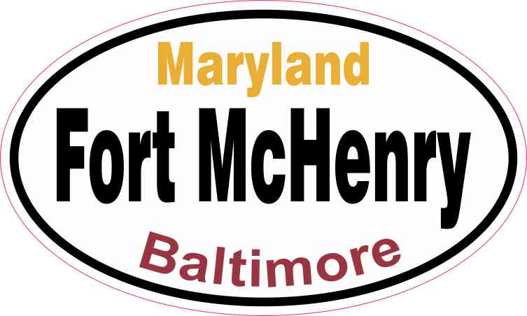 Oval Fort McHenry Sticker