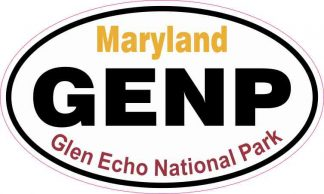 Oval Glen Echo National Park Sticker