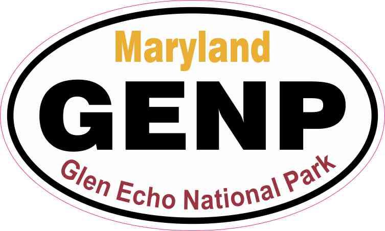 Oval Glen Echo National Park Sticker
