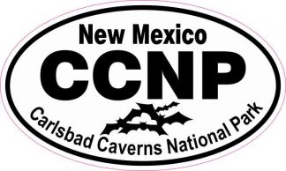 Bats Oval Carlsbad Caverns National Park Sticker