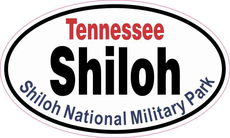 Oval Shiloh National Military Park Sticker