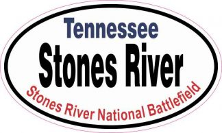 Oval Stones River Sticker