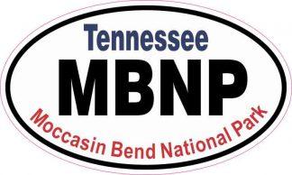 Oval Moccasin Bend National Park Sticker