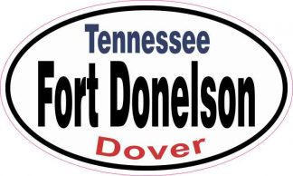 Oval Fort Donelson Sticker