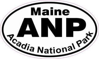 Oval Acadia National Park Sticker