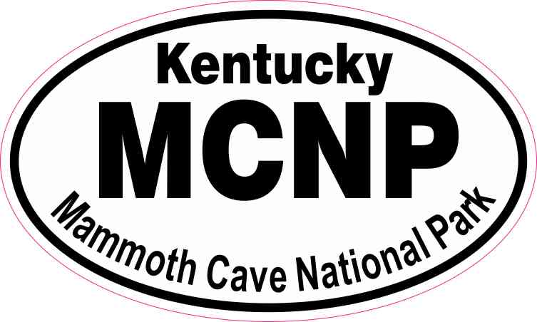 Oval Mammoth Cave National Park Sticker