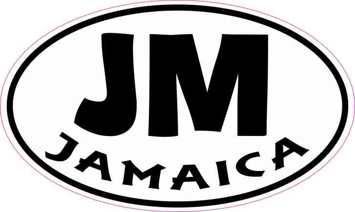 Oval Jamaica Sticker
