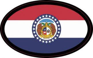 Oval Missouri Flag Sticker