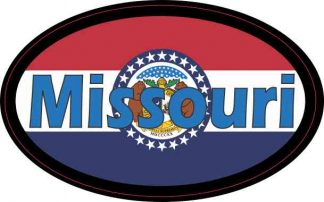 Flag Oval Missouri Sticker
