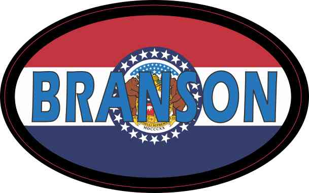 Oval Missouri Flag Branson Sticker