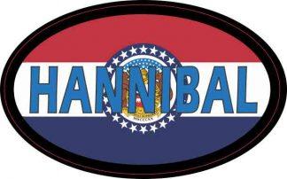Oval Missouri Flag Hannibal Sticker