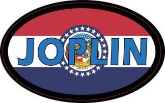 Oval Missouri Flag Joplin Sticker