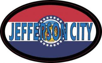Oval Missouri Flag Jefferson City Sticker