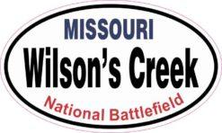 Oval Wilson's Creek Sticker