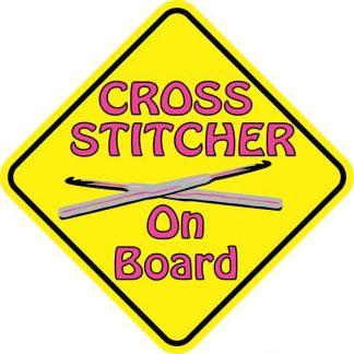 Cross Stitcher On Board Magnet