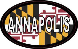 Oval Maryland Flag Annapolis Sticker