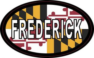 Oval Maryland Flag Frederick Sticker