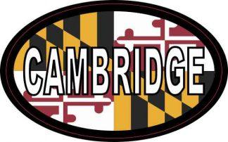 Oval Maryland Flag Cambridge Sticker