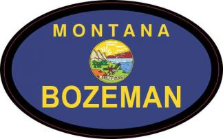 Oval Montana Flag Bozeman Sticker