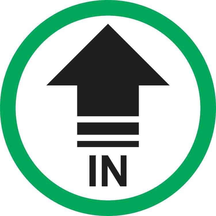 Green Circle In Arrow Sticker