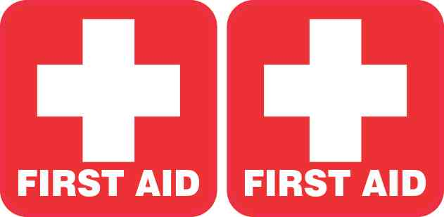 First Aid Stickers