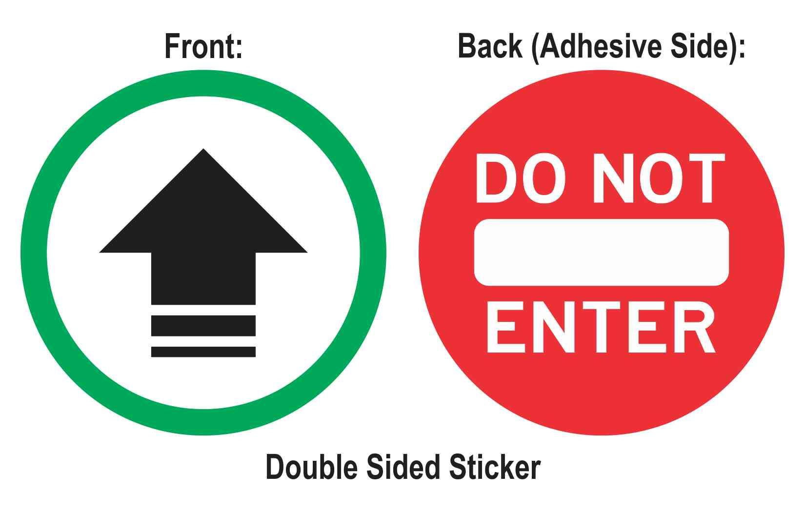 Double Sided Entrance Arrow Do Not Enter Sticker
