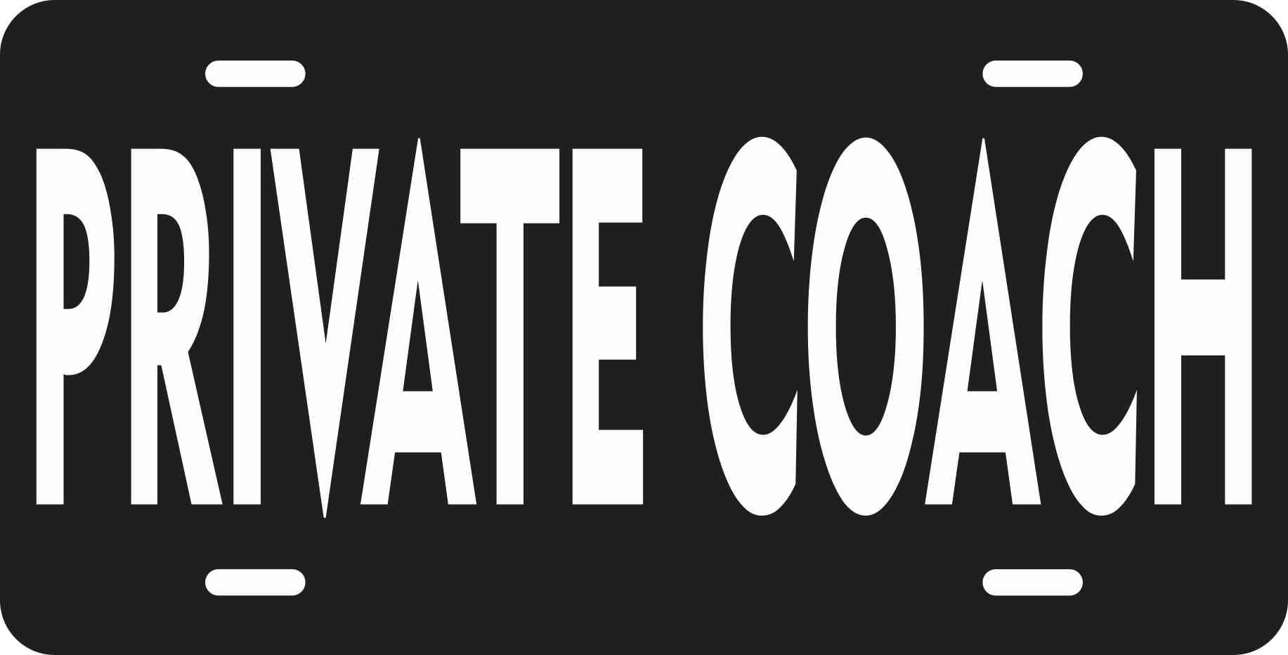 Business Novelty Private Coach License Plate