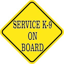 Service K-9 on Board Sticker