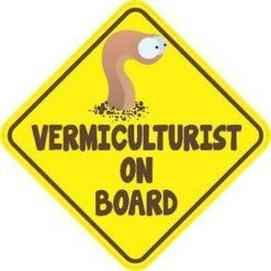 Vermiculturist On Board Sticker