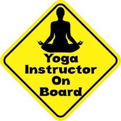 Yoga Instructor On Board Magnet