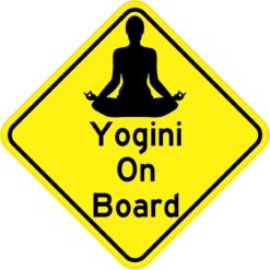 Yogini On Board Sticker