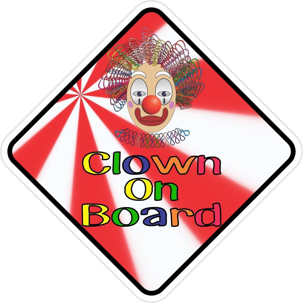 Clown On Board Magnet