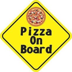 Pizza On Board Magnet