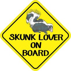 Skunk Lover On Board Sticker