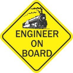 Train Engineer On Board Magnet