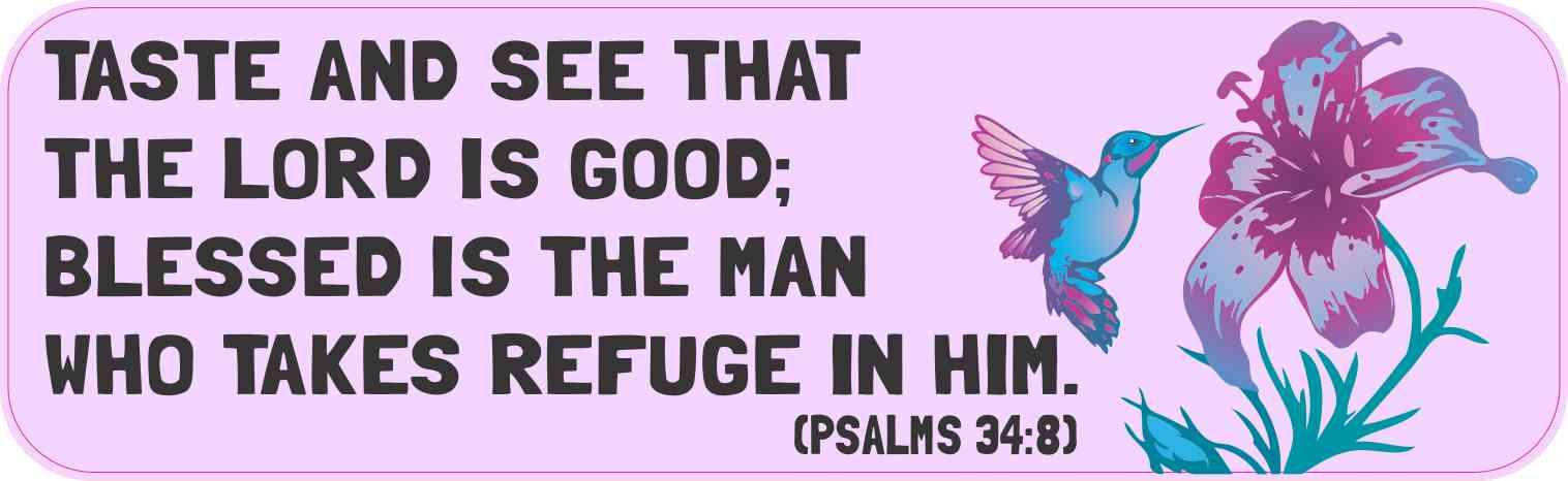 Psalms 34:8 Magnet