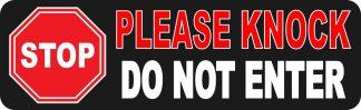Stop Please Knock Do Not Enter Sticker