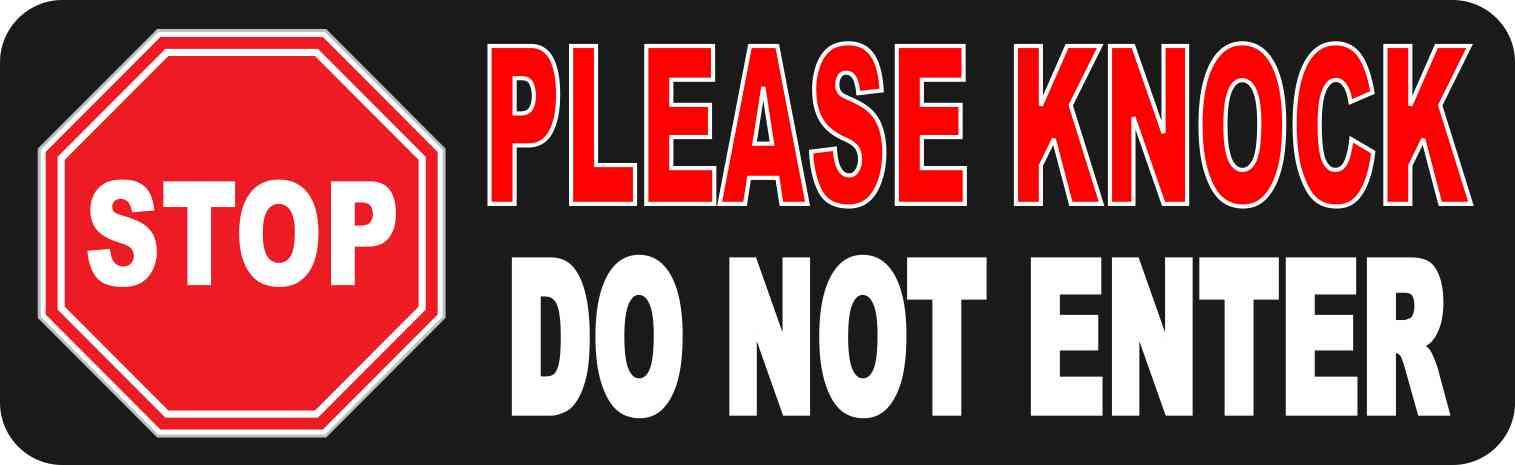 Stop Please Knock Do Not Enter Magnet