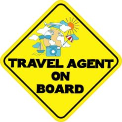 Travel Agent On Board Sticker