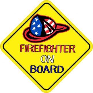Firefighter On Board Sticker