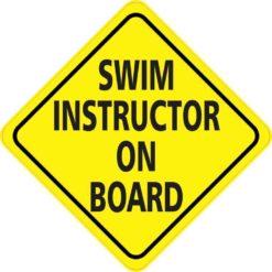 Swim Instructor On Board Sticker