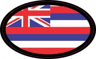 Oval Hawaii Flag Sticker